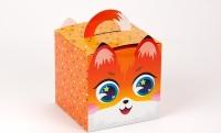 Подарочная коробка Лиса 11,5х11,5х11,5 см