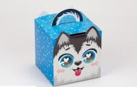 Подарочная коробка Собака 11,5х11,5х11,5 см