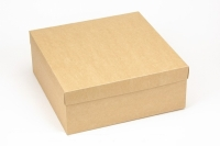 Подарочная коробка Крафт 25х25х10 см