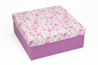 Подарочная коробка Гортензия 25х25х10 см