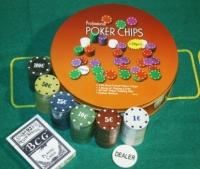 Покерный набор в Металлической коробке 120