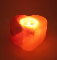 Подсвечник соляной сердце (11,5Х11Х6 см)