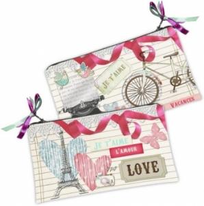 Косметичка кошелек Париж Love