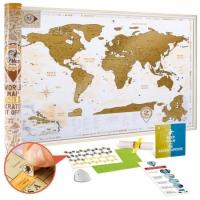 Фото Скретч карта Discovery Map World Gold на английском языке