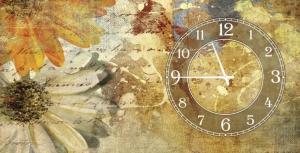 Часы на холсте Безмятежность 25х50