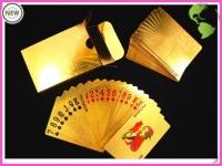 Карты игральные покерные 100 долларов золото