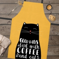 Фартук Хороший день начинается с кофе и кота