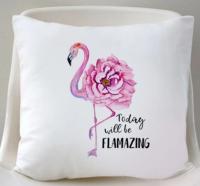 Подушка Фламинго 35x35 см