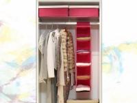 Подвесной органайзер для вещей на 5 секций (розовый)
