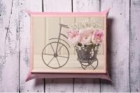 Поднос с подушкой Корзина с цветами