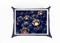 Поднос с подушкой Космические Цветы