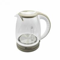 Электрический стеклянный чайник 1,8 л (Бело-серый)