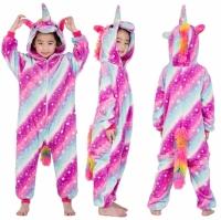 Детская пижама кигуруми Единорог Млечный Путь 120 см