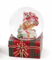 Декоративный водяной шар Мишка и подарки 6,3 см