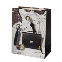 Подарочный пакет Для настоящего Мужчины France 32х26х12 см