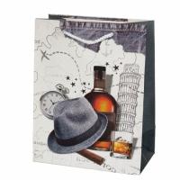 Подарочный пакет Для настоящего Мужчины Italy 32х26х12 см
