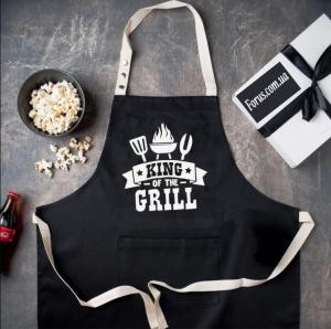 Фартук King of the grill (Черный)