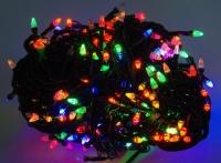 Гирлянда светодиодная LED 400 мультиколор черный провод