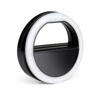 Подсветка кольцо для селфи Black