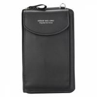 Кошелёк женский, мини-сумочка на плечо Baellerry 3 в 1 (черный)