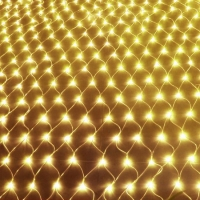 Фото Гирлянда светодиодная сетка 160 LED, белый шнур 1,5х1,5 м (Золото)