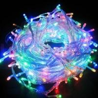 Гирлянда светодиодная 300 LED, прозрачный шнур, (мультиколор)