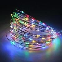 Гирлянда светодиодная роса на батарейках 5 м, 50 LED (Мультиколор)
