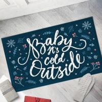 Дверний килимок На улице Холодно