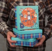 Подарочная коробка Бородач 18х18х6 см