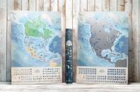 Светящаяся Скретч карта Северной Америки на Английском в тубусе