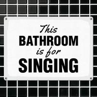 Табличка интерьерная металлическая This bathroom is for singing