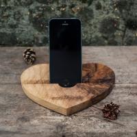 Фото4 Подставка для телефона из дерева Сердце