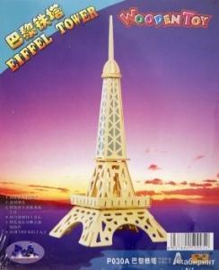 Сборная деревянная модель Эйфелева башня (3D пазл)