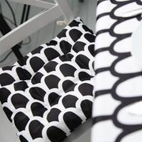 Подушка на стул Черно-белый Узор