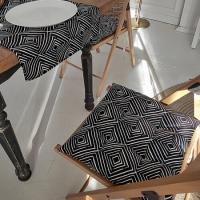 Подушка на стул Ромбы