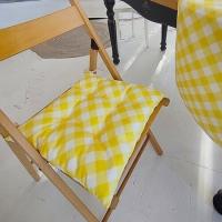 Подушка на стул Желтый Момент