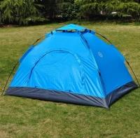 Палатка 6-местная туристическая автоматическая 230х230х150 см (синий)