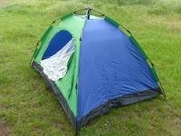 Палатка 3-х местная туристическая для отдыха на природе 200х150 см (сине-зеленый)