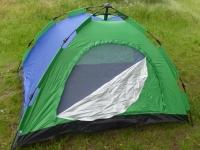 Палатка 4-х местная туристическая для отдыха на природе 206х206 см (сине-зеленый)