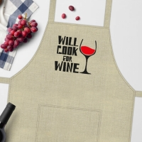 Фото Фартук  Will cook for wine