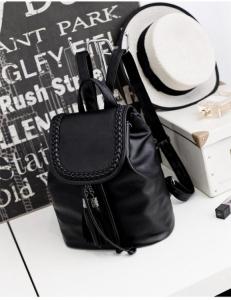 Рюкзак женский плетеный 25х15х28 см