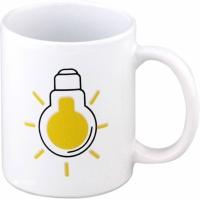 Чашка-хамелеон Лампочка (Белый)