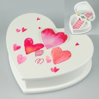 Шкатулка для украшений Сердце 19х16х6 см
