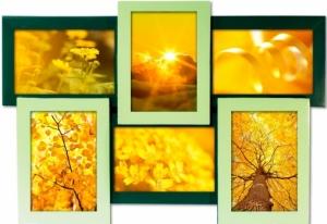 Мультирамка Весна на 6 фото