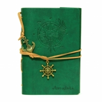 Блокнот с эко-кожи Adventure зеленый