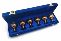 Бокалы бронзовые позолоченные 6 шт Rebecca
