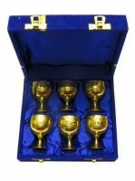 Бокалы бронзовые позолоченные 6 шт Valentina