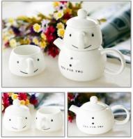 Фото Чайный набор для двоих Снеговик