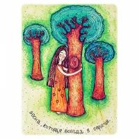 Деревянная открытка Весна в сердце