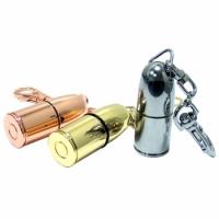 Флешка Пуля 32 Гб бронзового цвета